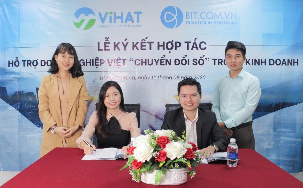 Vihat Và Bit Group Bắt Tay Hỗ Trợ 500 000 Doanh Nghiệp Chuyển đổi Số Trong Kinh Doanh 1