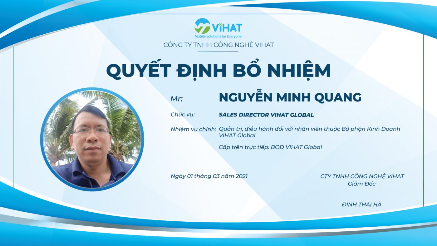 quyet-dinh-bo-nhiem-Sales Director-ViHAT-Global